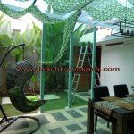Kanopi kaca dan sekat kaca di kawasan Cihanjuang, Bandung – Jawa barat.