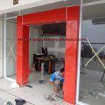Acp dan pintu frameles kaca
